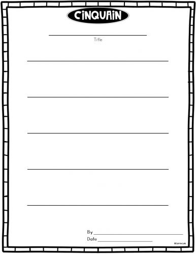 Poetry Paper Template from classroomcallouts.com